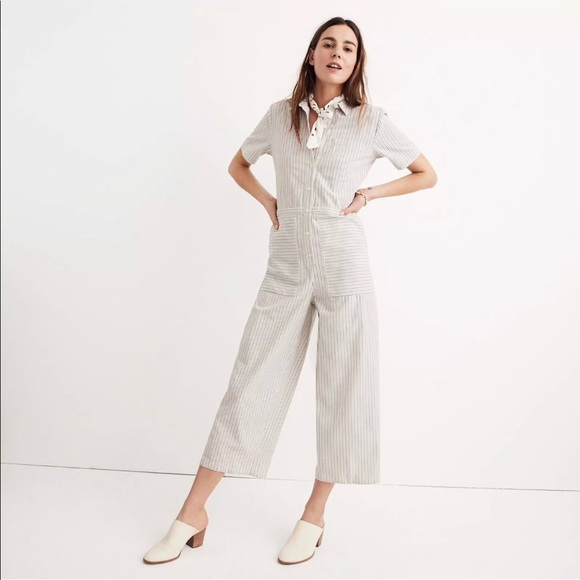 0a4d283f13c Madewell Pants - Madewell Striped Utility Jumpsuit Size Large